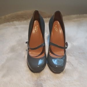 Like New Gucci Patent Leather Platform Mary Janes